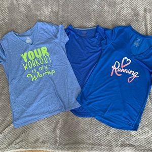 3 danskin dri-more shirts